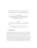 "Báo cáo toán học: "" Permutations which are the union of an increasing and a decreasing subsequence"""
