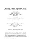 """Báo cáo toán học: """" Hadamard matrices and strongly regular graphs with the 3-e.c. adjacency property"""""""