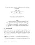 "Báo cáo toán học: ""Circular chromatic number of planar graphs of large odd girth"""
