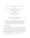 """Báo cáo toán học: """"On the Oriented Game Chromatic Number"""""""