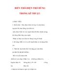 Giáo án Vật lý lớp 9 : Tên bài dạy : BIẾN TRỞ-ĐIỆN TRỞ DÙNG TRONG KĨ THUẬT.