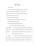 Giáo án Vật lý lớp 9 : Tên bài dạy : ÔN TẬP.