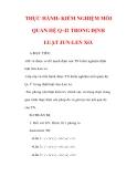 Giáo án Vật lý lớp 9 : Tên bài dạy : THỰC HÀNH: KIỂM NGHIỆM MỐI QUAN HỆ Q~I2 TRONG ĐỊNH LUẬT JUN-LEN XƠ.