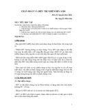 CHẨN ĐOÁN VÀ ĐIỀU TRỊ NHIỄM HIV/AIDS part 1