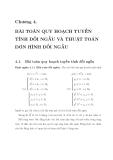 Chương 4: Bài toán quy hoạch tuyến tính đối ngẫu và thuật toán đơn hình đối ngẫu