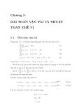 Chương 5: Bài toán vận tải và thuật toán thế vị