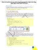 Giáo trình phân tích quy trình ứng dụng nguyên lý lập trình bằng ngôn ngữ visual basic trên java p1
