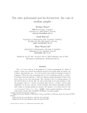 """Báo cáo toán học: """"The cube polynomial and its derivatives: the case of median graphs"""""""