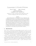 "Báo cáo toán học: ""A p, q-analogue of a Formula of Frobenius"""