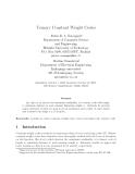 "Báo cáo toán học: ""Ternary Constant Weight Codes"""