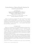 "Báo cáo toán học: ""A generalization of Simion-Schmidt's bijection for restricted permutations"""