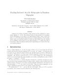 Báo cáo khoa học:Finding Induced Acyclic Subgraphs in Random Digraphs