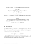 Báo cáo khoa học:Voltage Graphs, Group Presentations and Cages