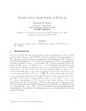 Báo cáo khoa học:Bounds on the Tur´n density of PG(3, 2) a