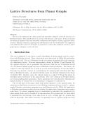 """Báo cáo toán học: """"Lattice Structures from Planar Graphs"""""""