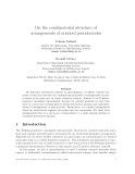 """Báo cáo toán học: """"On the combinatorial structure of arrangements of oriented pseudocircles"""""""