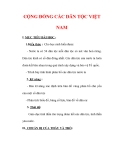 Giáo án Địa lý lớp 9 : Tên bài dạy : CỘNG ĐỒNG CÁC DÂN TỘC VIỆT NAM