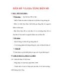Giáo án Địa lý lớp 9 : Tên bài dạy : DÂN SỐ VÀ GIA TĂNG DÂN SỐ
