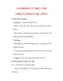 Giáo án Địa lý lớp 9 : Tên bài dạy : LAO ĐỘNG VÀ VIỆC LÀM CHẤT LƯỢNG CUỘC SỐNG