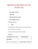 Giáo án Công nghệ lớp 9 : Tên bài dạy : MỘT SỐ VẤN ĐỀ CHUNG VỀ CÂY ĂN QUẢ (TT)