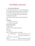 Giáo án Công dân lớp 9 : Tên bài dạy : NĂNG ĐỘNG, SÁNG TẠO