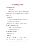 Giáo án Địa lý lớp 9 : Tên bài dạy : ÔN TẬP HỌC KÌ II