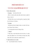 Giáo án Địa lý lớp 9 : Tên bài dạy : PHÂN BỐ DÂN CƯ VÀ CÁC LOẠI HÌNH QUẦN CƯ
