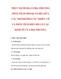 Giáo án Địa lý lớp 9 : Tên bài dạy : THỰC HÀNH ĐỊA LÍ ĐỊA PHƯƠNG PHÂN TÍCH MỐI QUAN HỆ GIỮA CÁC THÀNH PHẦN TỰ NHIÊN. VẼ VÀ PHÂN TÍCH BIỂU ĐỒ CƠ CẤU KINH TẾ CỦA ĐỊA PHƯƠNG