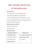 Giáo án Địa lý lớp 9 : Tên bài dạy : THỰC HÀNH ĐỊA PHƯƠNG ĐỊA LÝ THANH HÓA (tiết1)