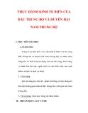 Giáo án Địa lý lớp 9 : Tên bài dạy : THỰC HÀNH KINH TẾ BIỂN CỦA BẮC TRUNG BỘ VÀ DUYÊN HẢI NAM TRUNG BỘ