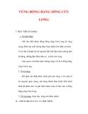 Giáo án Địa lý lớp 9 : Tên bài dạy : VÙNG ĐỒNG BẰNG SÔNG CỬU LONG