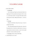Giáo án Địa lý lớp 9 : Tên bài dạy : VÙNG ĐÔNG NAM BỘ