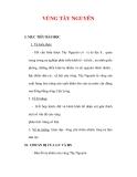 Giáo án Địa lý lớp 9 : Tên bài dạy : VÙNG TÂY NGUYÊN