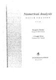 Burden - Numerical Analysis 5e (PWS, 1993) Epside 1 Part 1