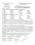 ĐỀ THI CHỌN ĐỘI TUYỂN VÒNG II Năm học: 2010 – 2011 Môn: TIẾNG ANH 12
