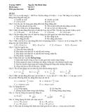 ĐỀ THI TỐT NGHIỆP MÔN VẬT LÝ 12 -  ĐỀ 002