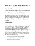 Hướng dẫn SQL & XQuery cho IBM DB2, Phần 2: Các truy vấn cơ sở
