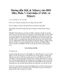 Hướng dẫn SQL & XQuery cho IBM DB2, Phần 7: Giới thiệu về XML và XQuery