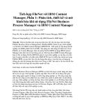 Tích hợp FileNet với IBM Content Manager, Phần 1