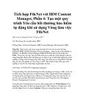 Tích hợp FileNet với IBM Content Manager, Phần 4