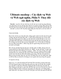 Ultimate mashup – Các dịch vụ Web và Web ngữ nghĩa, Phần 5