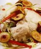 Thịt heo luộc trộn sung muối