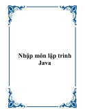 Nhập môn lập trình Java