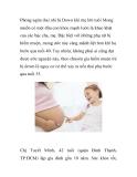Phòng ngừa thai nhi bị Down khi mẹ lớn tuổi