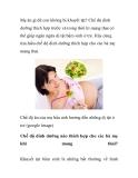 Mẹ ăn gì để con không bị khuyết tật?