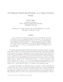 "Báo cáo toán học: ""A Uniformly Distributed Statistic on a Class of Lattice Paths"""