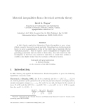 "Báo cáo toán học: ""Matroid inequalities from electrical network theory"""