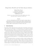 """Báo cáo toán học: """" Tiling Parity Results and the Holey Square Solution"""""""