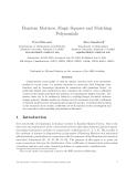 """Báo cáo toán học: """"Random Matrices, Magic Squares and Matching Polynomia"""""""