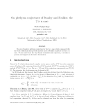 "Báo cáo toán học: "" On plethysm conjectures of Stanley and Foulkes: the 2 × n case"""